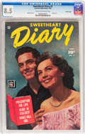 Golden Age (1938-1955):Romance, Sweetheart Diary #3 Crowley Copy pedigree (Fawcett Publications,1950) CGC VF+ 8.5 Cream to off-white pages....