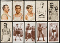 Boxing Cards:General, 1910's-1930's British Tobacco Boxing Sets Trio (3). ...