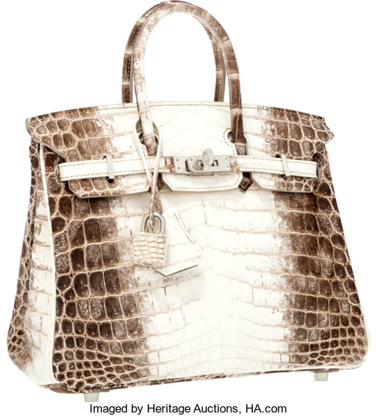 cf5939ef1814 Hermes Extremely Rare 25cm Matte White Himalayan Nilo