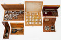 Timepieces:Other , Six Assorted Items And Wood Boxes. ... (Total: 6 Items)