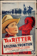 "Movie Posters:Western, Arizona Frontier (Monogram, 1940). One Sheet (27"" X 41""). Western....."