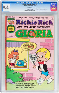 Richie Rich and Gloria #1 (Harvey, 1977) CGC NM 9.4 White pages