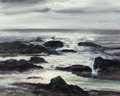 Paintings, ROBERT WILLIAM WOOD (American, 1889-1979). Surf at Laguna Beach, circa 1973. Oil on canvas. 16 x 20 inches (40.6 x 50.8 ...