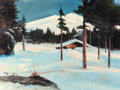 Paintings, ROBERT WILLIAM WOOD (American, 1889-1979). Waiting for the Thaw, circa 1972. Oil on canvasboard. 18 x 24 inches (45.7 x ...