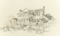 "Fine Art - Work on Paper:Drawing, EDWARD MUEGGE ""BUCK"" SCHIWETZ (American, 1898-1984). The LeaHouse, Independence, Texas, 1951. Pencil on paper. 10-3/4 x..."