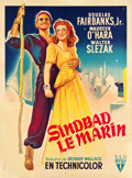 "Movie Posters:Adventure, Sinbad the Sailor (RKO, 1948). First Post-War Release French Grande(46.5"" X 63"").. ..."