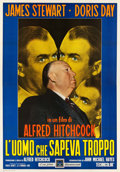 """Movie Posters:Hitchcock, The Man Who Knew Too Much (Paramount, R-1963). Italian 4 - Foglio(55"""" X 78"""").. ..."""