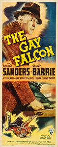 "Movie Posters:Mystery, The Gay Falcon (RKO, 1941). Insert (14"" X 36"").. ..."
