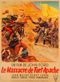 "Movie Posters:Western, Fort Apache (RKO, 1948). French Grande (44.25"" X 60.25"").. ..."