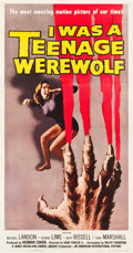 "Movie Posters:Horror, I Was a Teenage Werewolf (American International, 1957). Three Sheet (41"" X 81"").. ..."