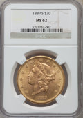 Liberty Double Eagles: , 1889-S $20 MS62 NGC. NGC Census: (537/114). PCGS Population(761/354). Mintage: 774,700. Numismedia Wsl. Price for problem ...