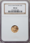 Commemorative Gold: , 1915-S G$1 Panama-Pacific Gold Dollar MS66 NGC. NGC Census: (588/66). PCGS Population (754/60). Mintage: 15,000. Numismedia...
