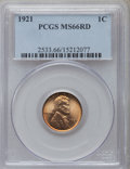 Lincoln Cents: , 1921 1C MS66 Red PCGS. PCGS Population (67/11). NGC Census: (25/1).Mintage: 39,157,000. Numismedia Wsl. Price for problem ...