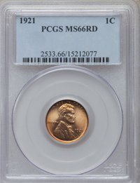 1921 1C MS66 Red PCGS. PCGS Population (67/11). NGC Census: (25/1). Mintage: 39,157,000. Numismedia Wsl. Price for probl...