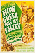 "Movie Posters:Drama, How Green Was My Valley (20th Century Fox, 1941). One Sheet (27.25""X 41"") Style A.. ..."