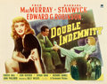 "Movie Posters:Film Noir, Double Indemnity (Paramount, 1944). Half Sheet (22"" X 28"") StyleB.. ..."