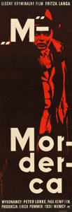 "Movie Posters:Crime, M (CWF, 1964). First Polish Release Poster (11.25"" X 33"").. ..."