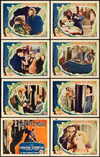 "The Haunted House (First National, 1928). Lobby Card Set of 8 (11"" X 14""). ... (Total: 8 Items)"