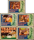 "Movie Posters:Adventure, Trader Horn (MGM, 1931). Title Lobby Card and Lobby Cards (4) (11""X 14"").. ... (Total: 5 Items)"