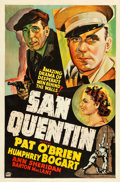 "Movie Posters:Crime, San Quentin (Warner Brothers, 1937). Other Company One Sheet (27"" X 41"").. ..."