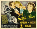 "Movie Posters:Drama, Stage Door (RKO, 1937). Half Sheet (22"" X 28"") Style A.. ..."