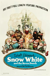 "Snow White and the Seven Dwarfs (RKO, 1937). One Sheet (27.5"" X 41"") Style B"