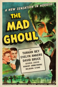 "Movie Posters:Horror, The Mad Ghoul (Universal, 1943). One Sheet (27.25"" X 40.75"").. ..."
