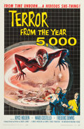 "Movie Posters:Science Fiction, Terror from the Year 5000 (American International, 1958). One Sheet(26.75"" X 41"").. ..."