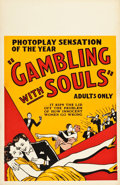 "Movie Posters:Crime, Gambling with Souls (1936). One Sheet (28"" X 42.5"").. ..."