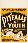 "Movie Posters:Exploitation, Marihuana (1936). One Sheet (28"" X 42.25""). Alternate Title:Pitfalls of Youth.. ..."