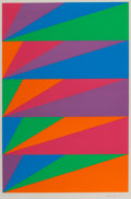 Fine Art - Work on Paper:Print, MAX BILL (Swiss, 1908-1994). Untitled, 1970. Screenprint incolors. 22 x 15 inches (55.9 x 38.1 cm). Signed in ink on lo...