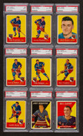 Hockey Cards:Lots, 1957 & 1958 Topps Hockey PSA Graded Group (9). ...