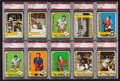 Hockey Cards:Lots, 1972 Topps Hockey PSA Graded Collection (33). ...