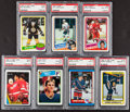 Hockey Cards:Lots, 1980 - 1990 Topps & O-Pee-Chee Hockey HoFers PSA Group (7). ...