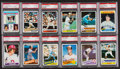 Baseball Cards:Lots, 1960's-1980's Baseball Stars to HoFers PSA Graded Collection (33)....