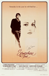 """Somewhere in Time (Universal, 1980). Autographed One Sheet (27"""" X 41"""")"""