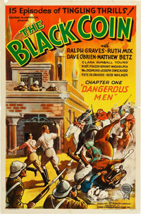 """The Black Coin (Stage and Screen Productions, 1936). One Sheet (27"""" X 41""""). Chapter 1 -- """"Dangerous Men.&..."""