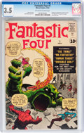 Silver Age (1956-1969):Superhero, Fantastic Four #1 (Marvel, 1961) CGC VG- 3.5 Off-white to whitepages....