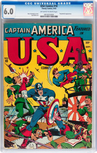 USA Comics #10 (Timely, 1943) CGC FN 6.0 Off-white to white pages