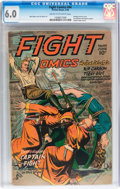 Golden Age (1938-1955):War, Fight Comics #44 (Fiction House, 1946) CGC FN 6.0 Cream tooff-white pages....