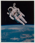 Books:Prints & Leaves, Photo Transparency Depicting Bruce McCandless During His Spacewalk.1984. Measures 4 x 5 inches. Housed in American Heritage...