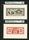 Canadian Currency: , Port of Spain, Trinidad- The Canadian Bank of Commerce $100 March1, 1921 Ch. # 75-28-06afp & abp Face and Back Proofs. ...