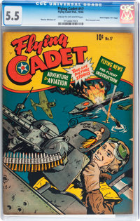 "Flying Cadet #17 Davis Crippen (""D"" Copy) pedigree (Flying Cadet Publishing, 1944) CGC FN- 5.5 Cream to off-wh..."