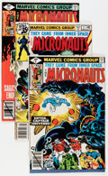 Modern Age (1980-Present):Science Fiction, Micronauts Short Box Group (Marvel, 1979-85) Condition: AverageNM-....