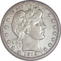 Barber Quarters, 1913-S 25C -- Cleaned -- ANACS. VF25 Details....