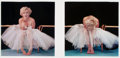 Photographs, MILTON GREENE (American, 1922-1985). Diptych of Marilyn Monroe, from the Ballerina Sitting, 1954. Dye-transfer, 1979... (Total: 2 Items)