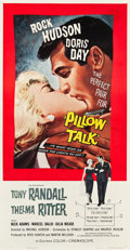 "Movie Posters:Comedy, Pillow Talk (Universal International, 1959). Three Sheet (41"" X 81"").. ..."