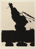 Prints, ROBERT MOTHERWELL (American, 1915-1991). Untitled, pl. 2 (from the Africa suite), 1970. Silkscreen in colors. 31-3/4...