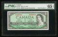 Canadian Currency: , BC-37b $1 1954 Serial Number One. ...