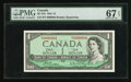 Canadian Currency: , BC-37b $1 1954 Serial Number Four. ...